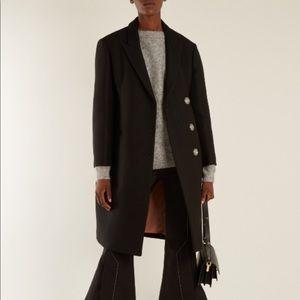 Acne Studios Pink Silk Lined Black Coat